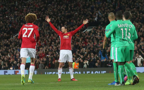 9129325d23d Manchester United s Zlatan Ibrahimovic celebrates his goal against St  Etienne in the Europa League last 32