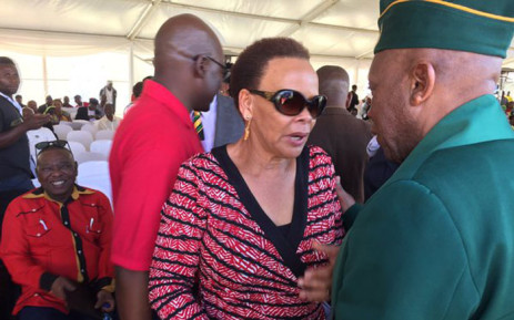 Chris Hani's widow, Limpho at the 23rd commemoration of the liberation hero's murder on 10 April. Picture: Vumani Mkhize/EWN