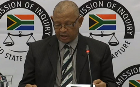 A screengrab of Cope spokesperson Dennis Bloem is appearing at the Zondo Commission of inquiry into state capture on 1 February 2019.