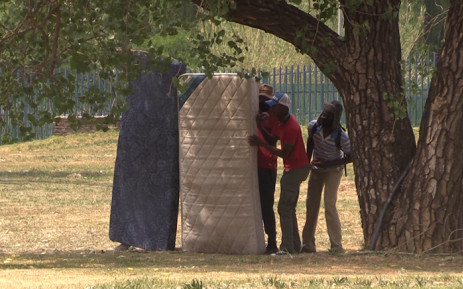 Vaal University of Technology students clashed with police on Thursday. Picture: Kgothatso Mogale/EWN