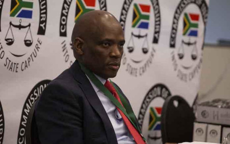 Former SABC COO Hlaudi Motsoeneng at the state capture commission on 10 September 2019. Picture: Abigail Javier/EWN