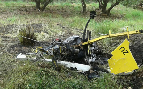 Two people were killed after a light aircraft crashed near Lephalale in Limpopo overnight. 14 March 2016. Picture: Saps via Facebook.