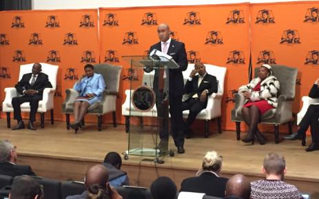 NPA head Shaun Abrahams at a media briefing on 23 May 2016. Picture: Vumani Mkhize/EWN.