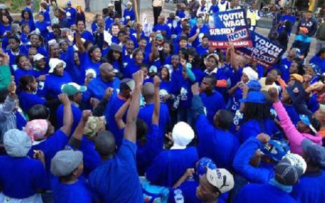 DA marchers gather. Picture: Ryno Geldenhuys/iWitness