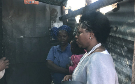 Public Services and Administration Minister Ayanda Dlodlo in Diepsloot. Picture: Bonga Dlulane/EWN