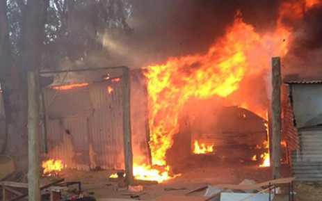 A 28-year-old woman and her four-year-old son were killed when their shack caught fire on Sunday. Picture: ER24