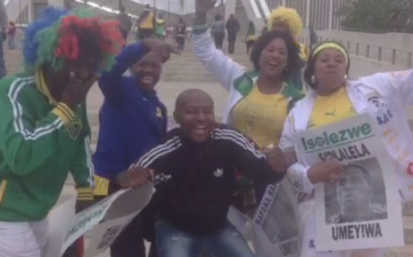 #SAvSUD Fans excited ahead of the big #Afcon2015 clash. Picture: Marc Lewis/EWN