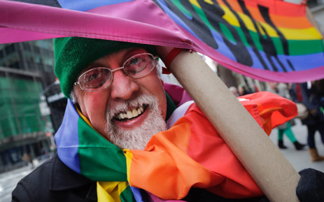 Gilbert Baker, the artist best known for creating the rainbow flag representing gay rights, has died. Picture: Twitter/@ajplus.