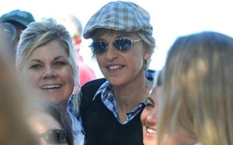 Ellen DeGeneres (C), an American entertainer and prominent gay rights advocate. Picture: AFP