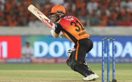 David Warner in action during his Indian Premier League franchise Sunrisers Hyderabad match against Rajasthan Royals. Picture: @IPL/Twitter.