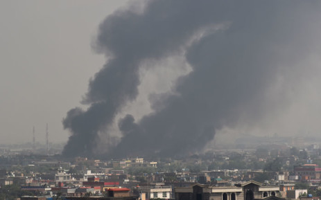 Smoke rises from the site of an attack after a massive explosion the night before near the Green Village in Kabul on 3 September 2019. Picture: AFP