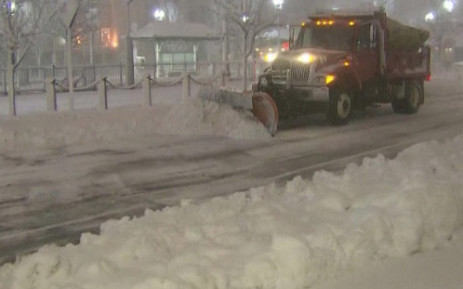 A blizzard hits the northern part of the USA. Picture: Screenshot from CNN video