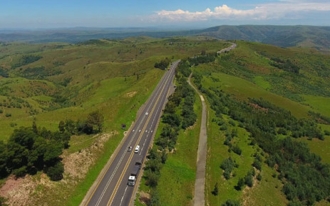 An aerial view of Van Reenen's Pass which is on the N3 toll route. Picture: N3 Toll Concession Facebook page