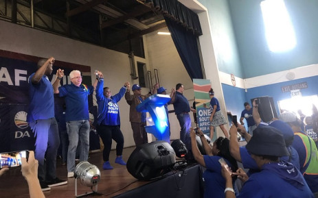 DA leaders at a rally in Bonteheweul. Picture: Kaylynn Plam/EWN.