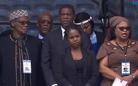 A screengrab of proceedings at the Orlando Stadium in Soweto where the memorial service for Winnie Madikizela-Mandela is underway.