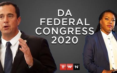 DA leader hopefuls John Steenhuisen and Mbali Ntuli. Picture: Xanderleigh Dookey/EWN.