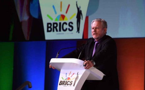 Trade and Industry Minister Rob Davies at the 10th annual BRICS Summit in Sandton, Johannesburg on 25 July 2018. Picture: @SAgovnews/Twitter