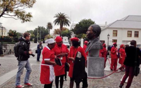 EFF members were thrown out of the Eastern Cape legislature Sopa because of what they were wearing. Picture: EWN.