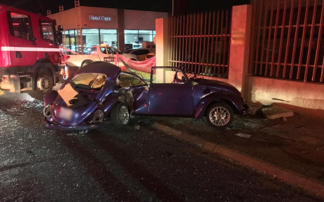 A VW Beetle involved in a rash. Picture: Arrive Alive.