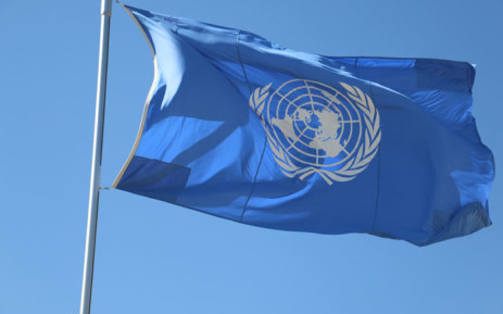 The United Nations flag. Picture: @UNFCCC/Twitter