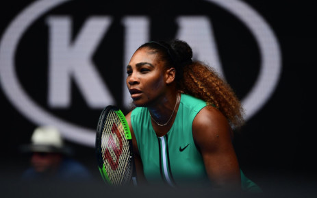 Serena Williams in action during the Australian Open first round match against Germany's Tatjana Maria. Picture: @AustralianOpen/Twitter.