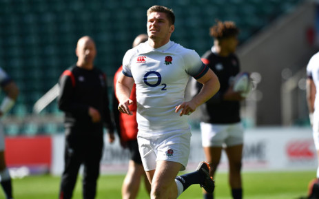 FILE: England's Owen Farrell during a training session. Picture: AFP