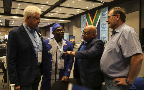 DA Western Cape Premier Candidate Alan Winde, MEC for Housing Bonginkosi Madikizela, MEC for Social Development Albert Fritz and MEC for Local Government Anton Bredell. Picture: Cindy Archillies/EWN