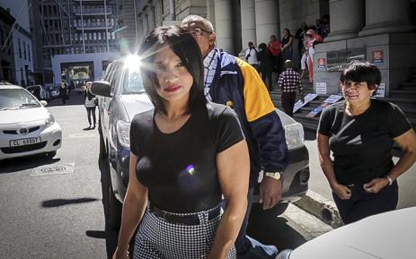 FILE: Celeste Nurse, the biological mother of Zephany Nurse, outside the Western Cape High Court. Picture: Thomas Holder/EWN