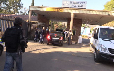 Olympic and Paralympic athlete Oscar Pistorius arrives at the Weskoppies Psychiatric Hospital in Pretoria on 14 May 2014. Picture: Christa Eybers/EWN.