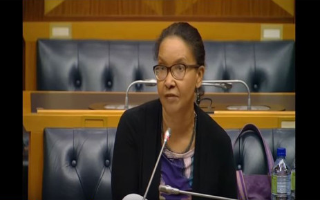 Febe Potgieter-Gqubule during her SABC board interview. Picture: YouTube screengrab.