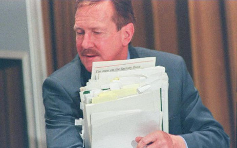 FILE: Clive Derby-Lewis during his amnesty hearing for his part in the murder of Chris Hani. Picture: AFP.