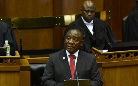 President Cyril Ramaphosa delivering his State of the Nation Address in the National Assembly on 20 June 2019. Picture: Twitter/@PresidencyZA
