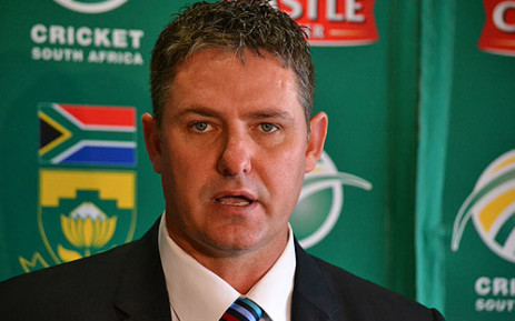 Acting Cricket South Africa CEO Jacques Faul speaks at a press conference in Cape Town to pay tribute to Mark Boucher on 11 July 2012. Picture: Aletta Gardner/EWN
