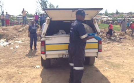 The scene of a crime where a new born baby was dumped in a stream in Diepsloot on 19 October 2013. Picture: Lesego Ngobeni/EWN.