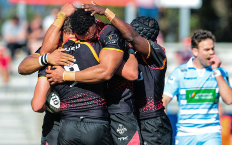 FILE: The Southern Kings celebrate a try. Picture: @PRO14Official/Twitter