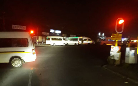 Taxis block roads in Vereeniging in protest action on 20 March 2019. Picture: EWN Traffic/Twitter