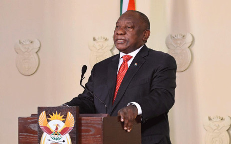 President Cyril Ramaphosa addresses the nation on 17 June 2020 on the easing of level 3 lockdown restrictions. Picture: GCIS.