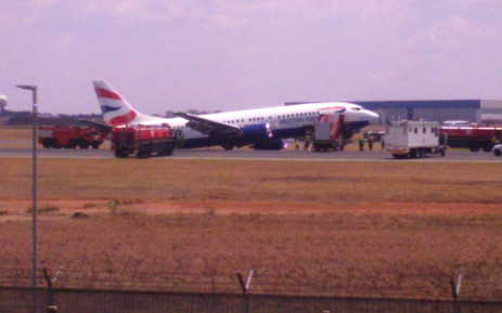British Airways Comair plane was involved in an incident at Johannesburg's OR Tambo International Airport on 26 October 2015. Picture: Lina Lekgothwane.