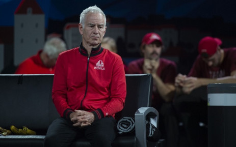 Team World's captain John McEnroe reacts after losing the final match of the 2019 Laver Cup tennis tournament in Geneva, on 22 September 2019. Picture: AFP