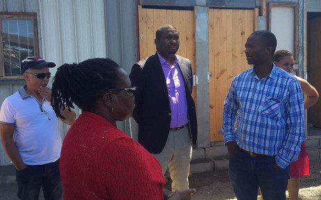 Deputy Minister in the Presidency Buti Manamela conducted a walkabout in the Philippi on 22 February 2016. Picture: Siyabonga Sesant/EWN.