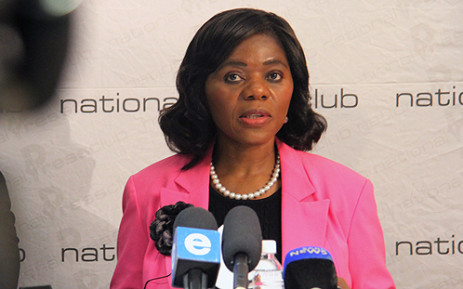 Public Protector Thuli Madonsela announcing her findings into a contract between the Western Cape government and advertising agency TBWA. Picture: Taurai Maduna/EWN