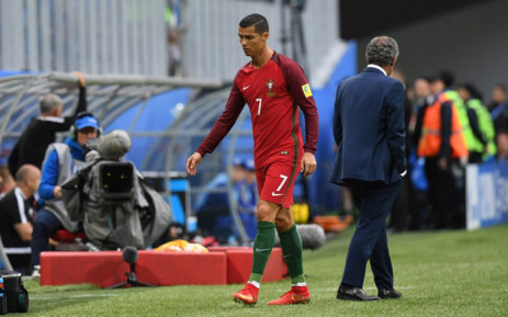 Portugal's forward Cristiano Ronaldo walks off the pitch after being substituted during the 2017 Confederations Cup group A football match between New Zealand and Portugal at the Saint Petersburg Stadium in Saint Petersburg on 24 June, 2017. Picture: AFP.