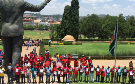 Various unions there include Numsa and the Food and Allied Workers Union (Fawu) among others. Picture: Masa Kekana/EWN.