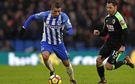 Brighton and Hove ALbion drew 1-1, to earn a valuable point, against Tottenham Hotspur. Picture: AFP.