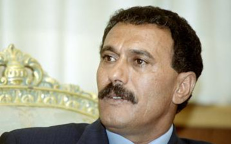 Yemen's President Ali Abdullah Saleh. AFP