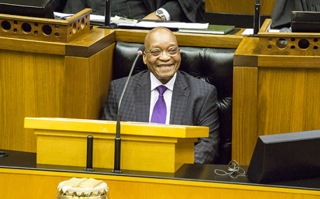President Jacob Zuma answers questions in Parliament on the 11 March 2015. Picture: Thomas Holder/EWN.