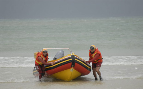 NSRI officials conducting a search operation at Monwabisi beach. Picture: NSRI.
