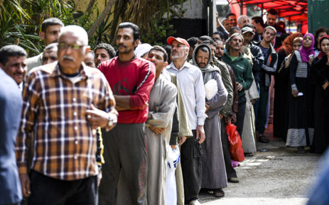 Egyptians arrive at a polling station to vote in a referendum on constitutional amendments, at a school in the capital Cairo's northern neighbourhood of Shubra, on the first day of a three-day poll, on 20 April 2019. Polls in Egypt opened on 20 April for 62 million eligible voters to make their voice hear on a referendum that could keep President Abdel Fattah al-Sisi in power until 2030. Picture: AFP