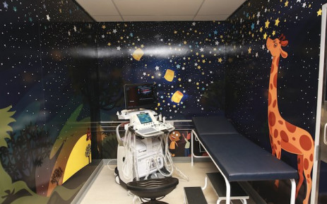 An examination room at the newly-opened Nelson Mandela Children's Hospital. Picture: NMCH