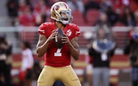 522ee3e2a FILE  Colin Kaepernick  7 of the San Francisco 49ers drops back to pass  against